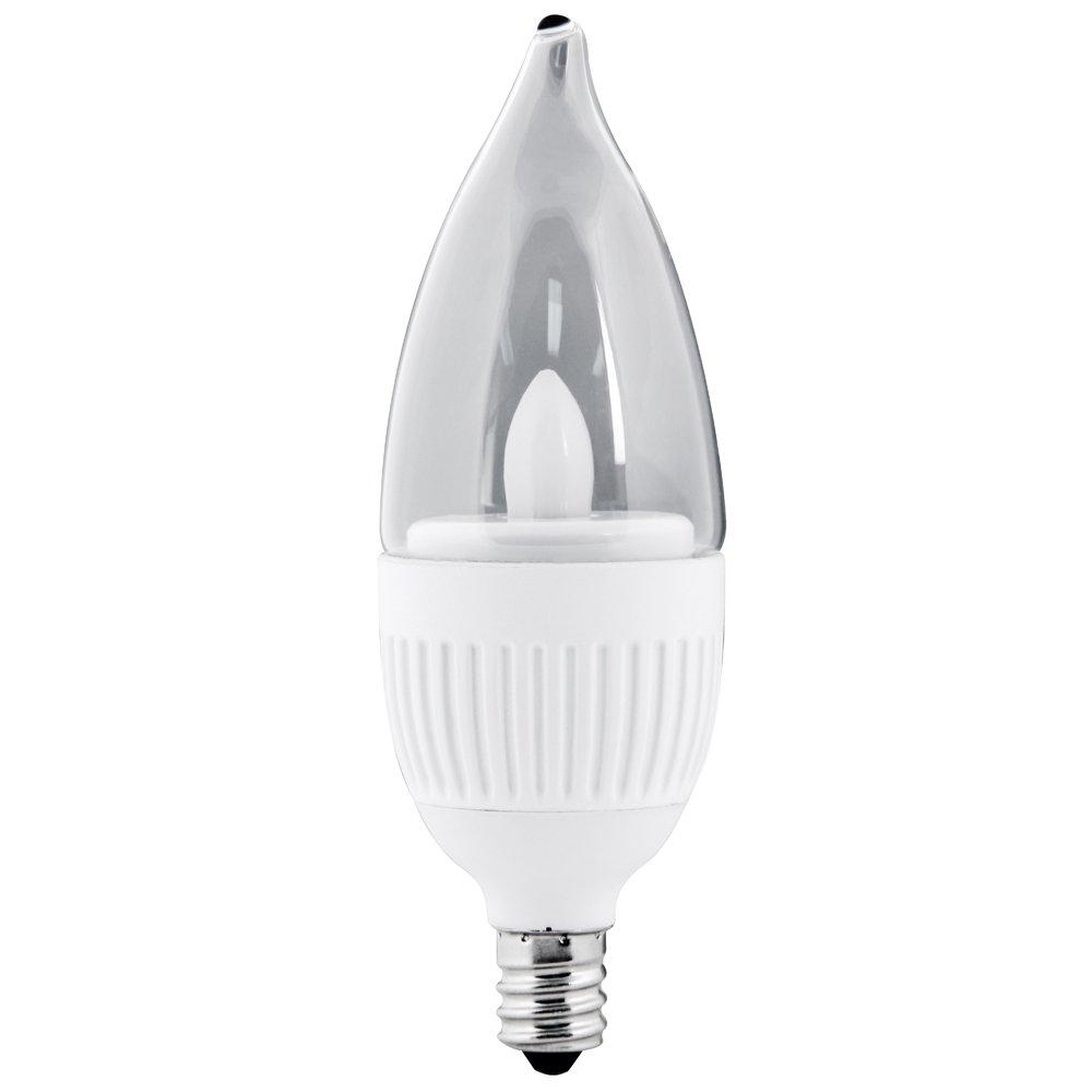 Feit Electric CFC//DM//LED 3 Watt High Performance Dimmable Chandelier Bulb Candelabra Base
