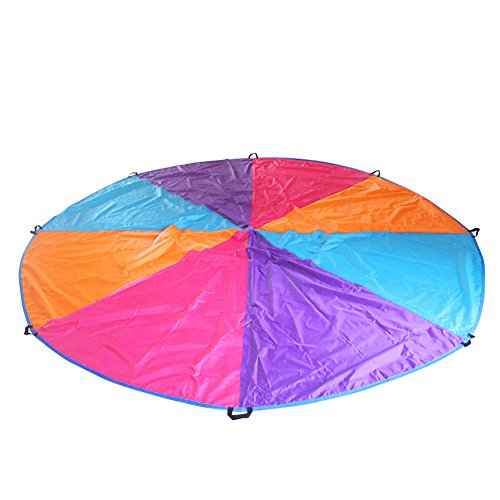 Price comparison product image Traver Dream Play Parachute for Kids 12 Feet with 8 Handles Kids Cooperation Group Play