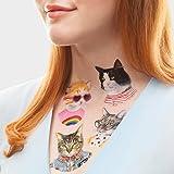 Tattly Temporary Tattoos Set, The Cat Club