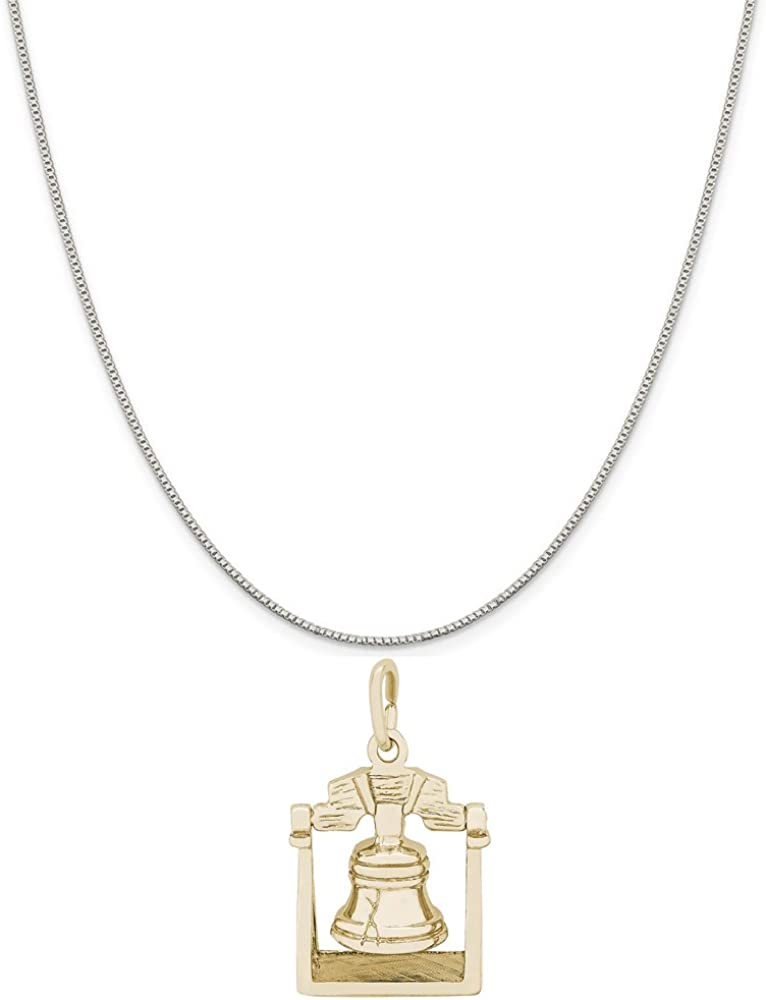 Rembrandt Charms Two-Tone Sterling Silver Door Charm on a Sterling Silver 16 Box or Curb Chain Necklace 18 or 20 inch Rope