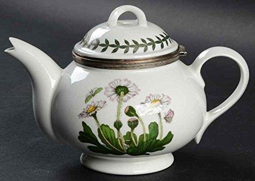 - Portmeirion Botanic Garden Daisy 25th anniversary hinged individual teapot