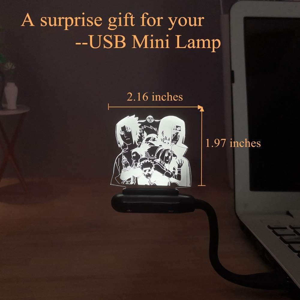 Children Holiday Gift Naruto 3D LED Night Light Sasuke Uchiha Itachi Desk Lamp Child Room Bedroom Night Lamp Naruto Family