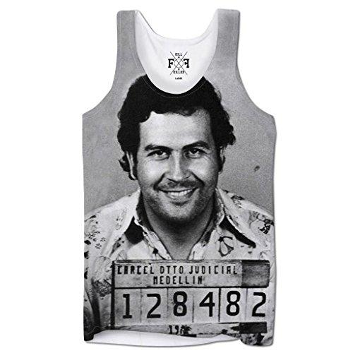 Bang Tidy Clothing Men's Graphic Tank Top Summer Beach Sleeveless T Shirt Escobar Mug Shot Printed - Men Top Designer