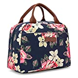 Good Habit Insulated Lunch Bag Cooler for Women | Fashionable Black Floral Lunch Box | Soft Leak Resistant | Work/School/Picnic/Beach/Boating