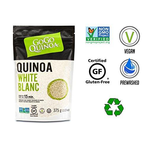 GoGo Quinoa Wheat Free White Conventional Grains, Rich in Vitamin B and Vitamin E - Kosher & GMO Free Certified, 0.83 Lbs