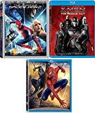 Every Hero Has a Choice Super Marvel Movie Pack Days of Future Past X-Men Rogue Cut + The Amazing Spider-Man 2 Blu Ray & 3D / Original Webslinger Peter Parker VS Sandman Triple Feature 3-Film Set