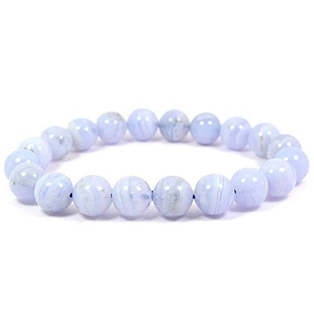 LHBNH Handmade Bracelet Jiale Natural Crystal Bracelet-HJCA19060022 Bracelet 8mm Reiki Healing Correction Protects Concentration Spirituality and Increases Creativity Personal Gift