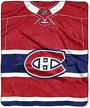 "The Northwest Company NHL Montreal Canadiens Jersey Raschel Throw Blanket, 50"" x 60&"