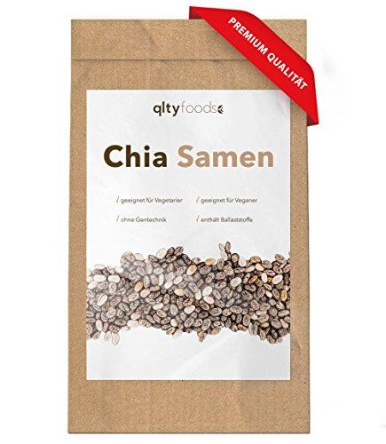 CHIA SAMEN von qltyfoods | Premium Qualität aus Paraguay | 1kg (1000g) | Omega-3-Fettsäuren, Protein & Ballaststoffe