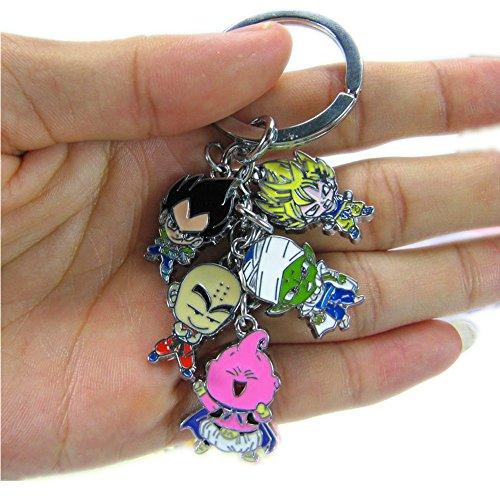 Cartoon Keychain - Anime Cartoon Dragon Ball Z Keychains Metal Figures Pendants Key Chains (R)