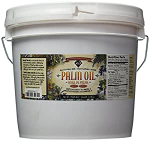 Palm Oil, Natural Red 1 Gallon - Sustain-ably Sourced, RSPO Certified