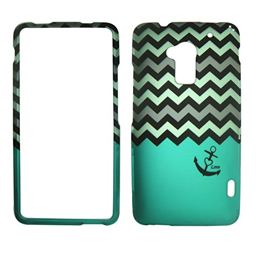 2d-grey-green-chevron-anchor-htc-one-max-t6-sprint-verizon-case-cover-phone-snap-on-cover-case-facep