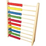 100-Bead Wooden Frame Abacus for Kids Math, Natural Wood Safe Paint Colorful Counting Frame Children Early Educational…