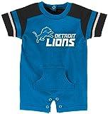 """NFL Infant """"Rusher"""" Romper-Lion Blue-24 Months, Detroit Lions"""