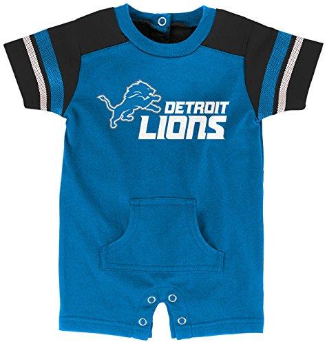 """OuterStuff NFL Infant""""Rusher"""" Romper-Lion Blue-12 Months, Detroit Lions"""
