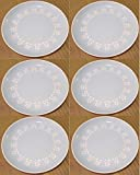 Set of 6 Vintage 10'' HARKERWARE Petite Fluer Sky Blue w Daisies Dinner Plate
