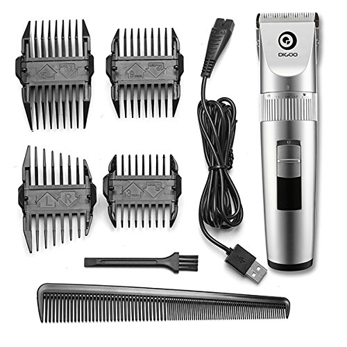 Di-goo BB-T1 USB Ceramic X-Blade Hair Trimmer Rechargeable Hair Clipper 4X Extra Limiting Comb (Og Revolver)