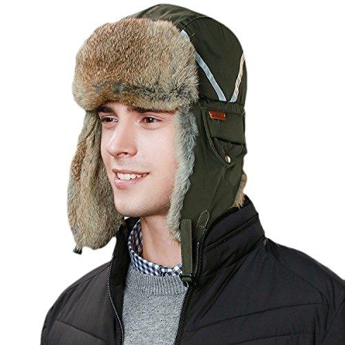 Sombreros Libre De Gorros Invierno Engrosamiento De Cuero De Lana Gorras Ruso De Hombre De Aire Al Esquí Olive Sombrero De SiggiAlcaldes Bombardero rxrwqFRA