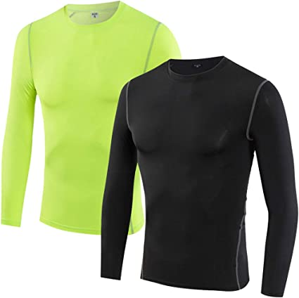 LANBAOSI Boys/&Girls Long Sleeve Compression Soccer Practice Shirts