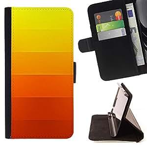 For Samsung Galaxy A3 Case , Gradiente de color Rayas Naranja Amarillo- la tarjeta de Crédito Slots PU Funda de cuero Monedero caso cubierta de piel