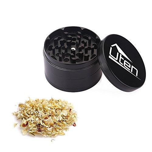 Uten-254-Piece-Zinc-Alloy-Tobacco-Spice-Weed-Herb-Grinder-with-Pollen-Catcher-black
