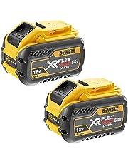 DEWALT DCB547 18V/54v XR FLEXVOLT 9.0ah batteri DCB547-XJ-tvillingpack, 18 V, gul, 2-pack