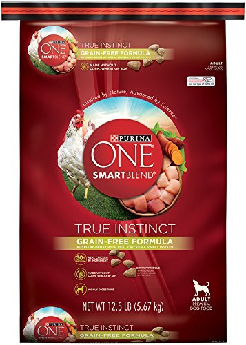 Cheap Purina ONE SmartBlend Dry Dog Food, True Instinct, Grain Fee Formula with Chicken & Sweet Potato, 12.5-Pound Bag by Purina ONE