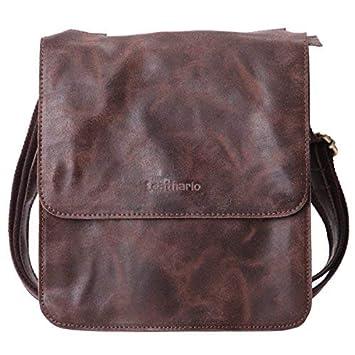 4f519b2c4ef4 Leathario Leather Shoulder Bag Men s Retro Leather Messenger Bag Crossbody  Bag Satchel Bag Ipad Bag 11