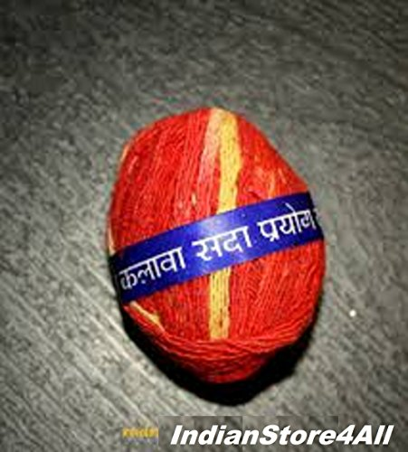 (IndianStore4All Mauli Moli Kalawa Sacred Hindu Religious Red Cotton Pooja Wrist Thread Band)