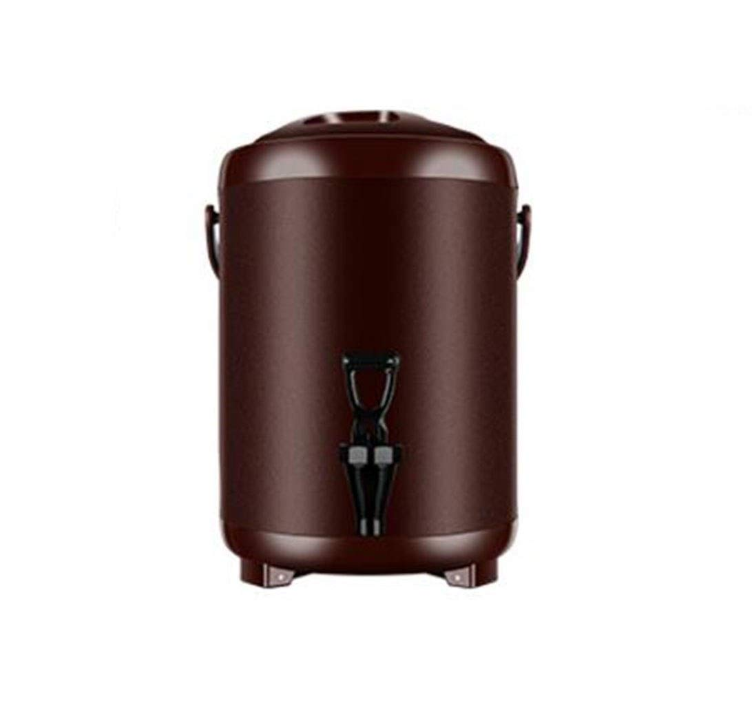 JBHURF Thermos Stainless Steel Tap Faucet Hot Drink Water Dispenser Car Home Outdoor Ice Bucket Milk Tea Coffee Juice Liquor 6L / 8L / 10L / 12L (Color : Coffee, Size : 10L) by JBHURF