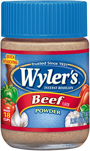 WYLER'S Instant Bouillon, Beef Powder, 2.25 Ounce (Pack o...