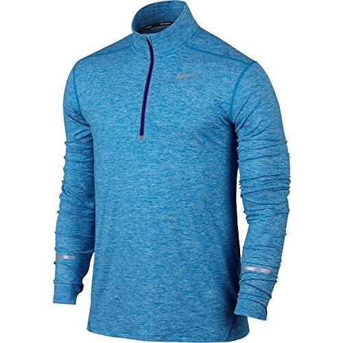 Nike Mens Element Half Zip 717404 436 Light Photo Blue/Heather/Deep Royal Blue Size Medium
