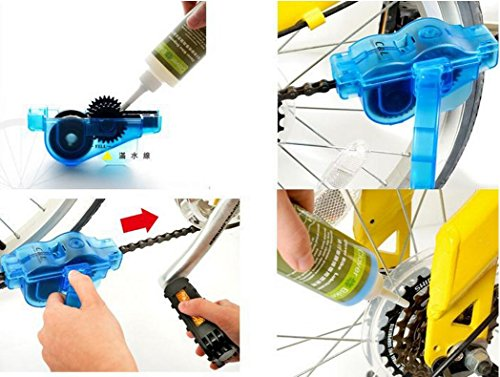 ELINKA Bike Chain Cleaning Tool Bicycle Chain Cleaner Scrubber Brush Tools with Rotating Brushes Bike Maintenance Care Cleaner Accessories for Cycling Bikes Road Bikes Mountain Bikes