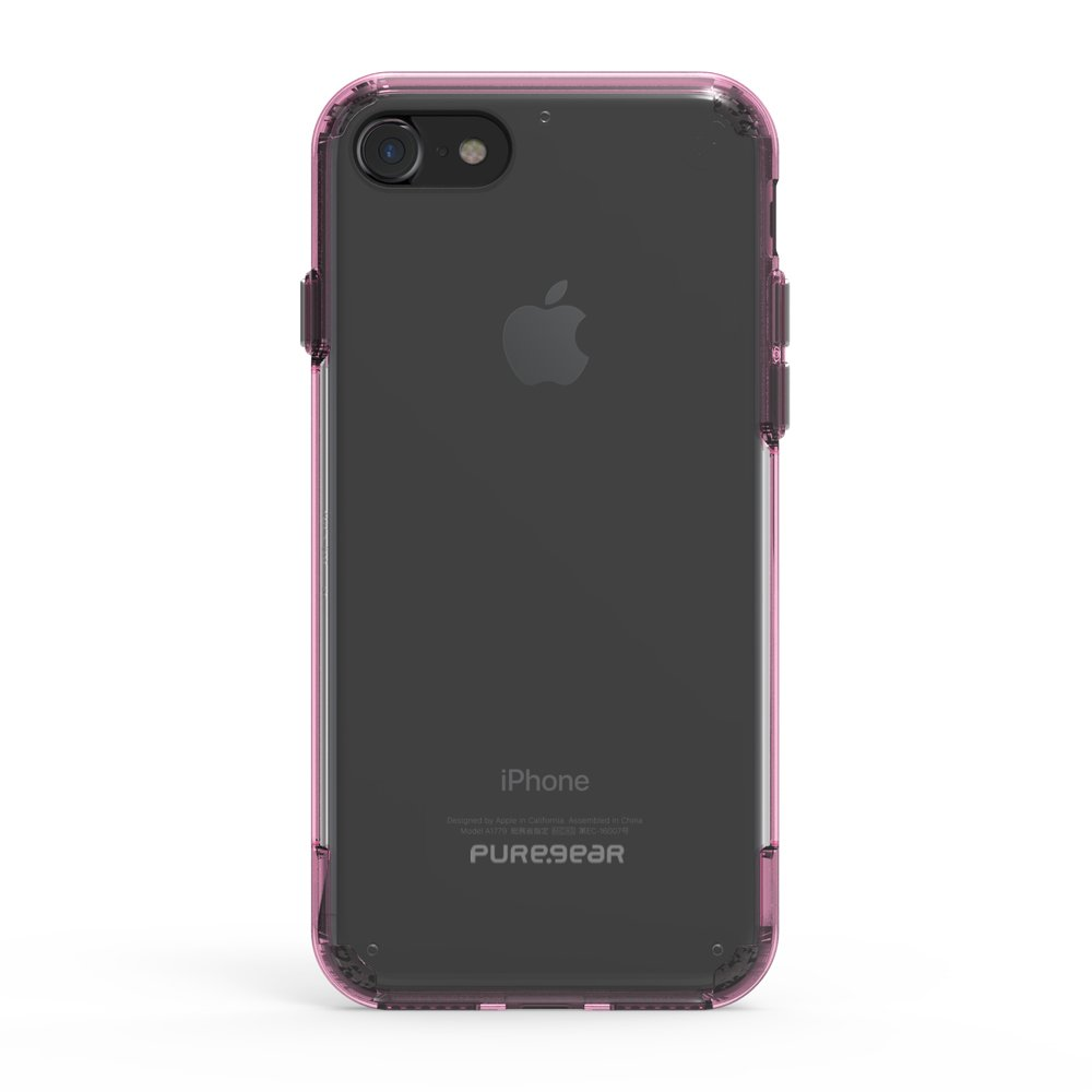 PureGear Slim Shell PRO for iPhone 7 - Clear/Pink