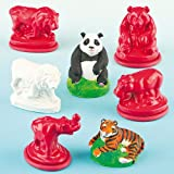 Jungle Animal Latex Moulds for Children to Play and Display (Set of 5)