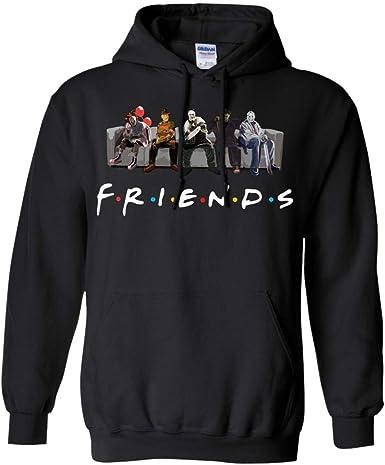 Gray, Small Friends Film Style Michael Jason Penny Best Horror Characters Halloween Mens Hooded Sweatshirt
