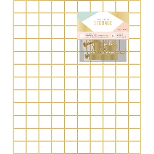 Wire Grid Panel (American Crafts 375791 Grid Panel Crate Paper Wire System Storage Grid Panel 20 X 24