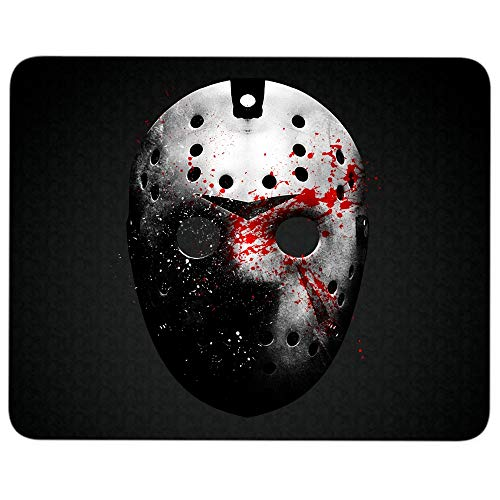 Friday The 13th Jason Voorhees Mask Non-Slip Rubber Base Mousepad for Laptop, Computer & PC, Halloween Mouse Pad(Mouse Pad - Black) -