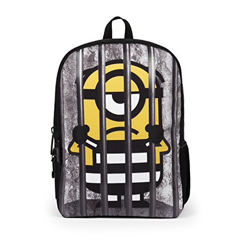 Mojo Life Despicable Me Minions Behind Bars Backpack School Bag -