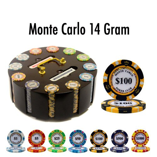 Brybelly Holdings PCS-2602R 300 Ct - Pre-Packaged - Monte Carlo 14 G - Wooden Carousel ()