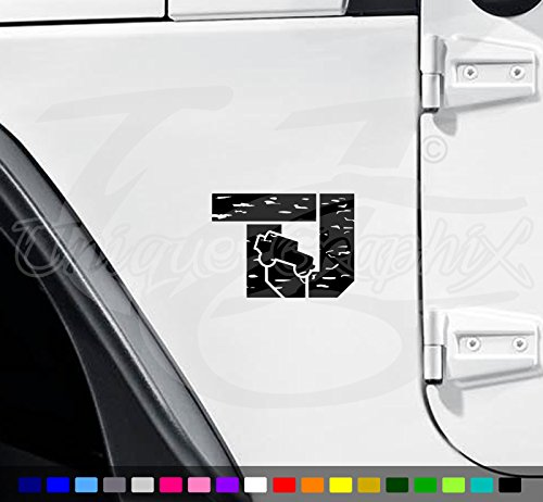 Jeep Wrangler TJ Distressed Vinyl fender side Decals 1 pair