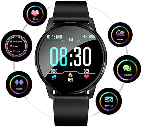 Beaulyn Smart Watch for Android Phones, Fitness Tracker with Heart Rate Monitor, 8 Sport Modes, 67 Waterproof Activity Tracker Blood Pressure Sleep Monitor Calorie Pedometer for Kids Women Men