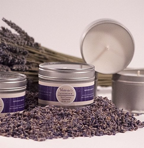 Victoria's Lavender Luxury Lavender Gift Set includes Microwaveable Neck Wrap, Aromatherapy Body Mist, Soy Candle, Dead Sea Mud Soap, Lavender Lotion and Sachet. Handmade in USA.