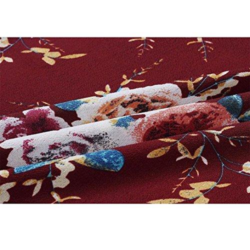 shirt Da Maniche T Elegante Kword Donne Camicetta Festa Casual Bowknot Abito Donna Vino Stampa Lunga Cocktail Corte New Delle Mini Con E Sexy Floreale Vestito wqETBFXAxE