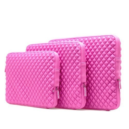 Amazing Accessory (TM) Durable Diamond Shock-Resistant Laptop Sleeve (HOT PINK) for Alienware 14 ALW14-1250sLV 14-Inch Gaming Laptop