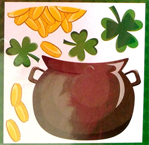 Lucky Irish POT O GOLD SHAMROCKS PUZZLE MAGNETS Refrigerator Car Door - Hh O