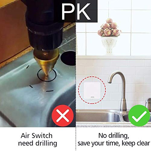 Luong Thanh Thuy Kitchen Food Waste Disposers Garbage Disposal Wireless Switch Remote Control Korea Plug 16A for 1HP Disposal No Drilling No Pipe Joint Water by LUONG THANH THUY (Image #1)
