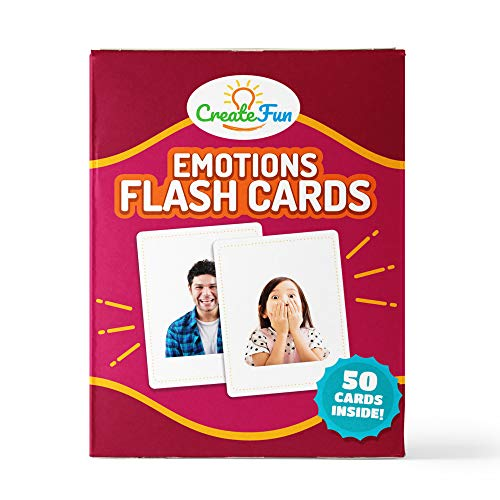 - CreateFun Feelings and Emotions Flash Cards | 50 Emotion Development Educational Photo Cards | 7 Starter Learning Games for Your Classroom, Speech Therapy Materials and ESL Teaching Materials