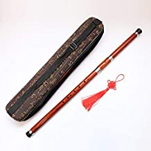 Professional Wooden Flute BaWu Key F, Chinese Vintage Handmade Woodwind Musical Instrument, Orient Ethnic Wood Flute Ba Wu - Detachable Pipe Natural Sandalwood - Traditional Music Gift