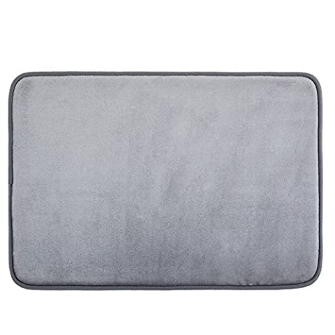 Techfeed Memory Foam Bath Mat Absorbent Bathroom Rugs Soft Bathroom Mat Quickly Drying Shower Rugs Non Slip Bath Rugs(17